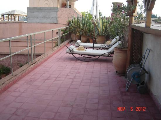 Riad Altair: top terrace