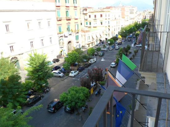 Palazzo Caracciolo Napoli MGallery by Sofitel: Balcony view towards Vesuvious......