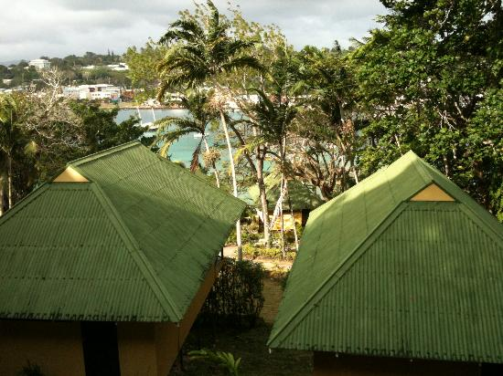 Iririki Island Resort: The view from our balcony in the garden fare