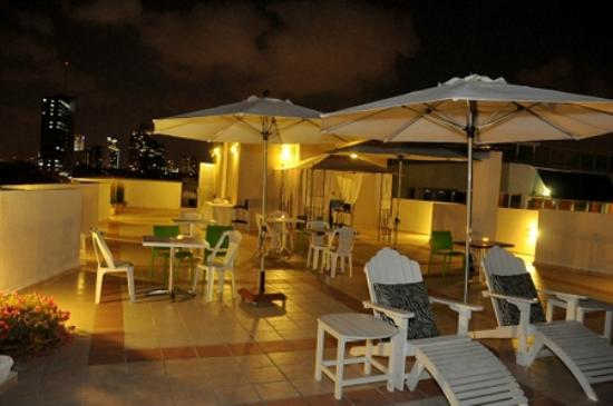 The Maxim Hotel: Our roof deck at night