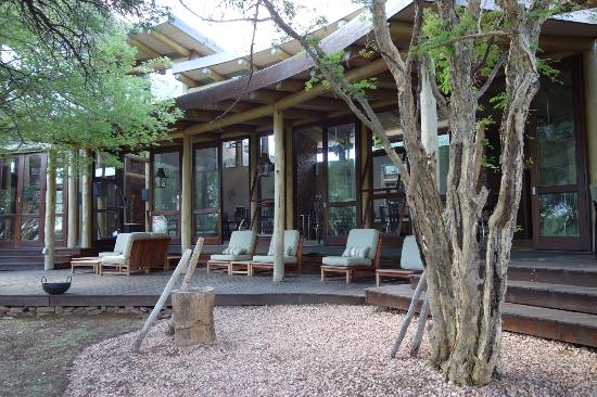 Marataba Safari Lodge: Veranda der Lodge