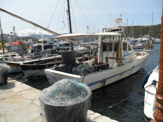 Citadelle Saint Florent : barca da pesca a saint florent