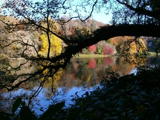 Warminster, UK: Autumn colours reflected in the lake