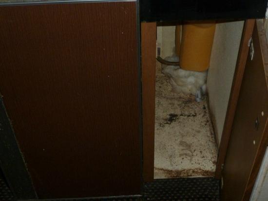 Budget Inn Ontario: Interior armario junto a la nevera