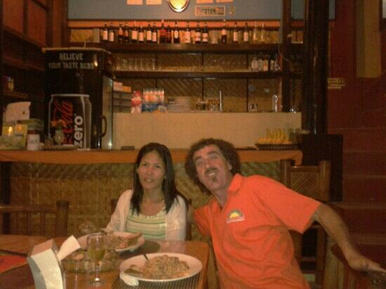 Ciao Italia : Chef Alberto and wife!-he is lucky he gets to eat his own-heavenly cooking everyday!