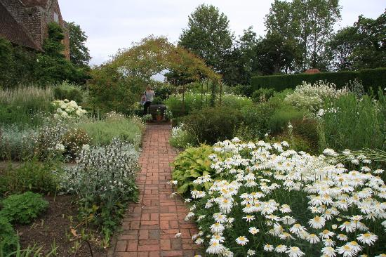 Sissinghurst, UK: View of one of the many flower beds.