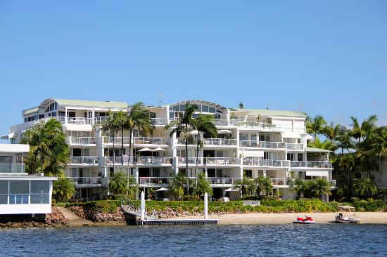 Noosa Quays: We took this photo of the complex from our boat on the river.