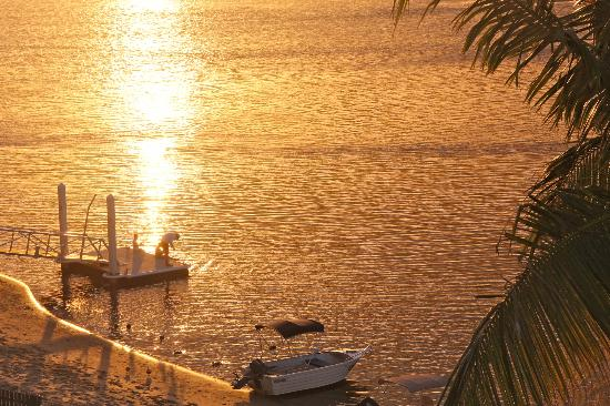 Noosa Quays: The jetty at sunset (taken from top floor balcony)