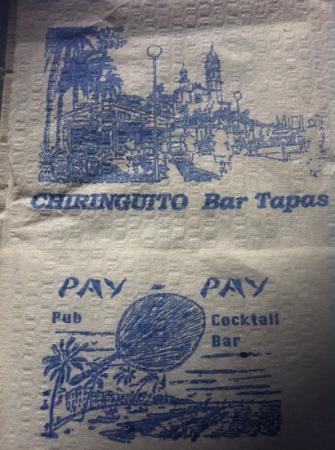 Chiringuito: servilleta con paisage Sitges