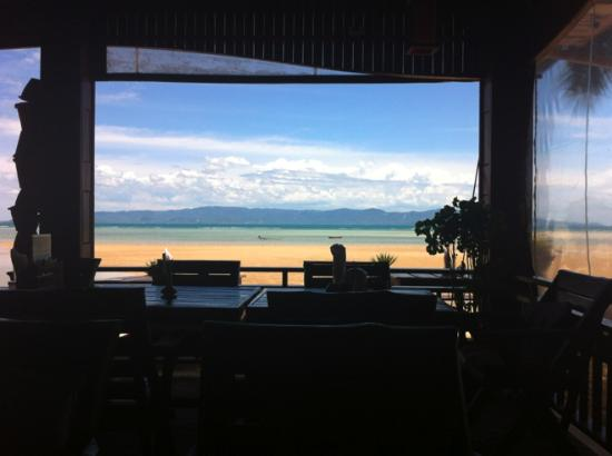 Phangan Rainbow Bungalows: View from dining area