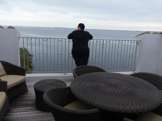 Port Rive Gauche : Terrasse de notre appartement