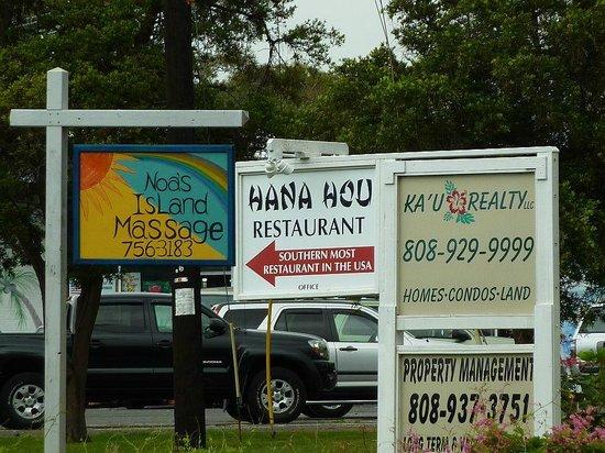 Hana Hou Restaurant Big Island