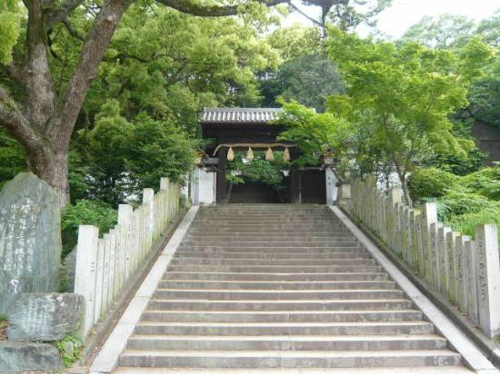 Shinome Shrine: 石段