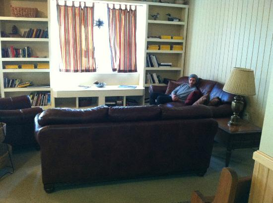 Wellnesste Lodge: Great room - couches & books
