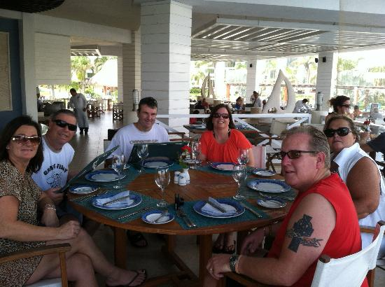 Secrets Silversands Riviera Cancun: lunch overlooking main pool area