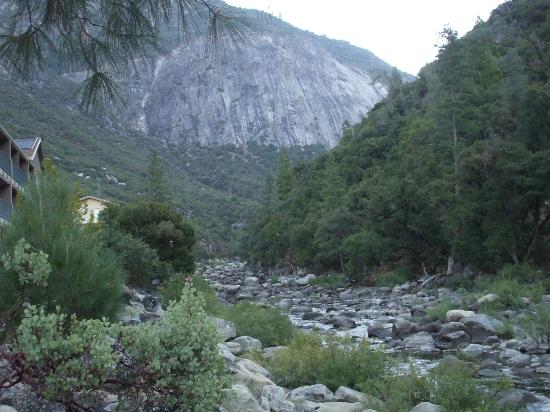 view of merced river from ground floor patio of room. Black Bedroom Furniture Sets. Home Design Ideas