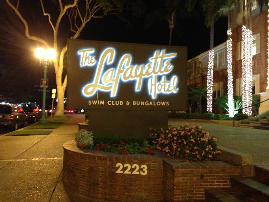 The Lafayette Hotel, Swim Club & Bungalows: great graphics!