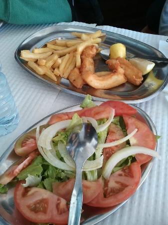Restaurante Rebarca: Fried Cuttlefish & Salad