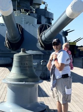Battleship NORTH CAROLINA: Daddy and me