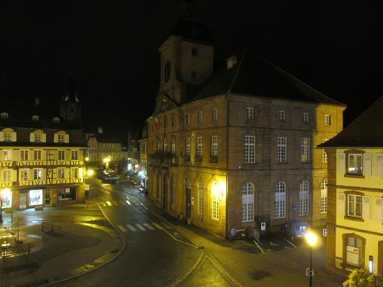 La Couronne à Wissembourg : Night view from our room