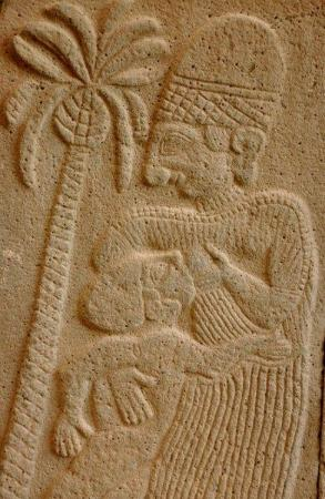 Karatepe: relief depicting a woman breastfeeding her child
