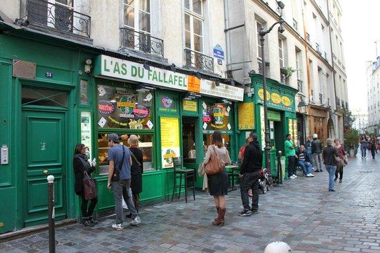 L'As du Fallafel: L'As du Falafel - esterno