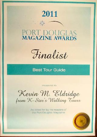 """K Star: 2011 PD Business Awards Finalist """"best tour guide"""""""