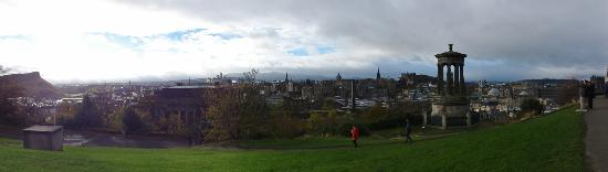 Adria House: View of Edinburgh from Calton Hill, just behind the B&B