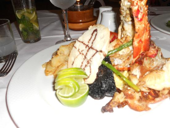 The Royal Suites Yucatan by Palladium: Lobster dinner- YUM