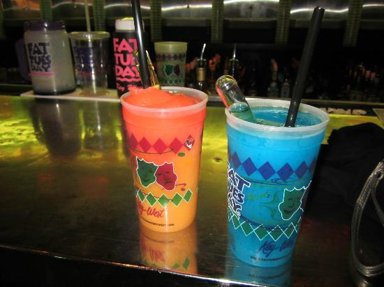 Fat Tuesday: the 44 magnum (left) and eye candy (right) w/ rum shooters