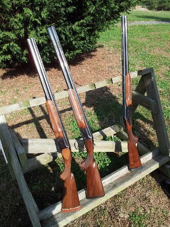 Hopkins Game Farm: Gun rack; these were at each station which was nice since we had several guns.