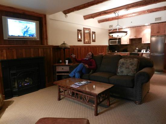 The Whiteface Lodge : A sala de nossa suite