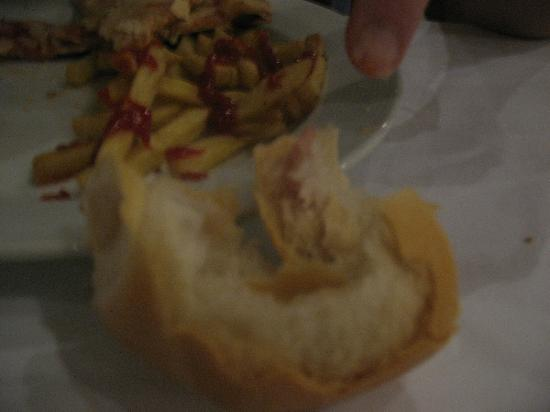 Dreams Palm Beach Punta Cana: ham baked in crusty bun :(