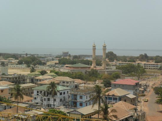 Banjul, Gambia: view from the Arch viewing platform