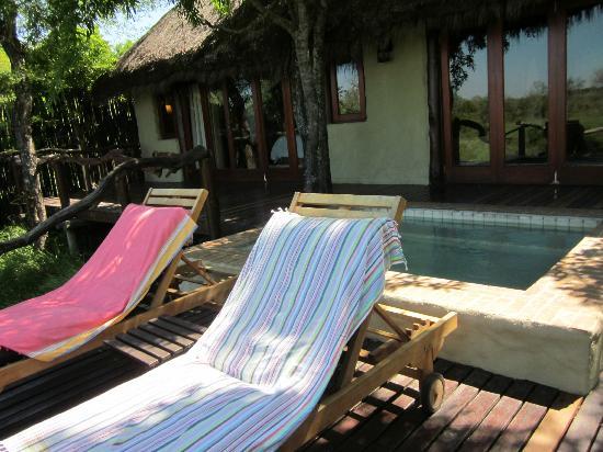 Simbambili Game Lodge: Heerlijk relaxen van de suite