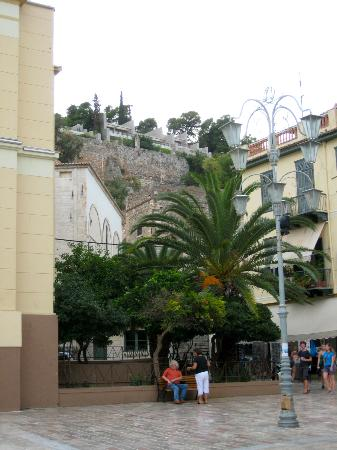 Nafplia Palace Hotel: view of the hotel from the town
