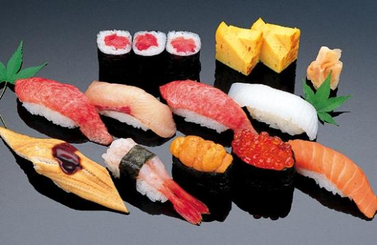 Hayashi: Different varities of sushi