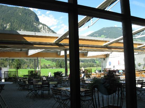ErlebnisSennerei Zillertal: Outside dining w/views