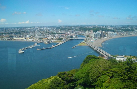 Fujisawa, Japan: Across the bay