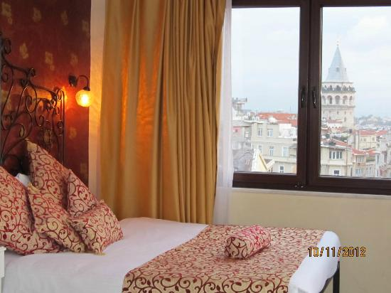 The Pera Hotel: View to Galata tower