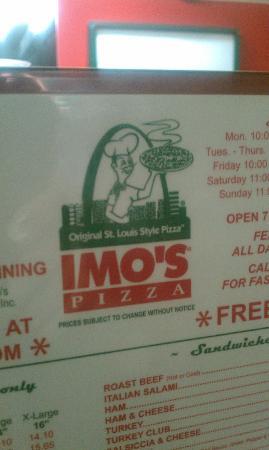 Imo's Pizza: IMO's Menu
