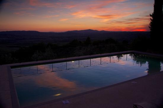 Castello Banfi - Il Borgo: Banfi at sunset