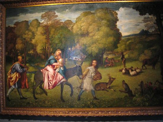 Gallerie dell'Accademia : Titian's 'The Flight into Egypt'