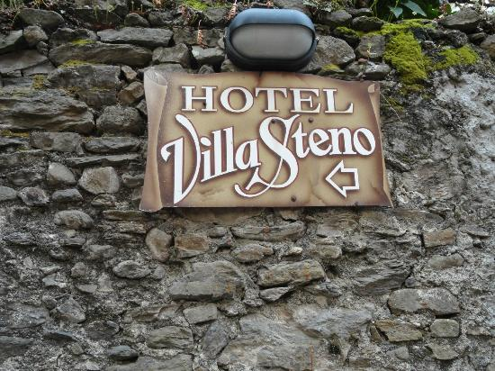 Hotel Villa Steno: Welcome sign