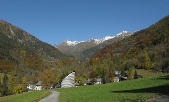 Mario Botta's Mountain Church: view of church