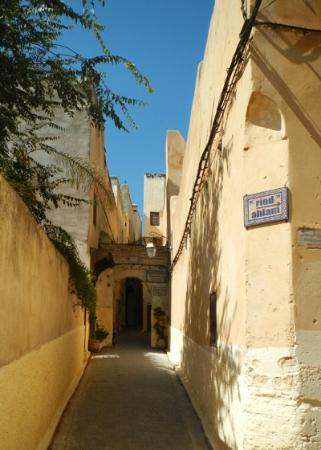 Riad Layalina Fez: the sign for Riad Layalina, turn right here