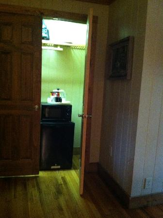 Village Inn of Blowing Rock: Refrigerator/Microwave/Closet combo