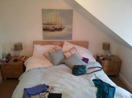 Craggallan Guest House : The bedroom - excuse our stuff