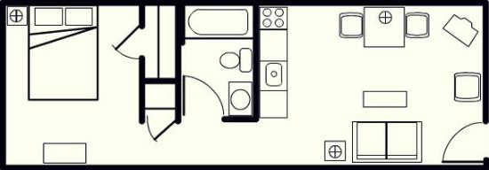 Affordable Suites Hickory: Standard Suite Layout