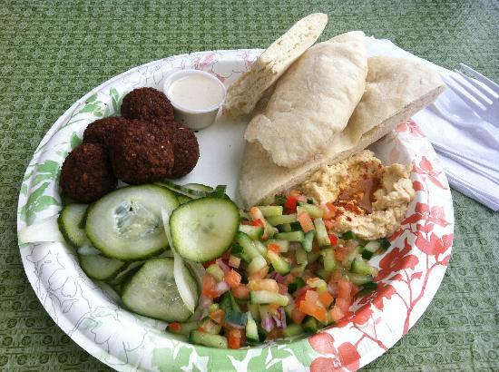 Falafel In Paradise: falafel plate